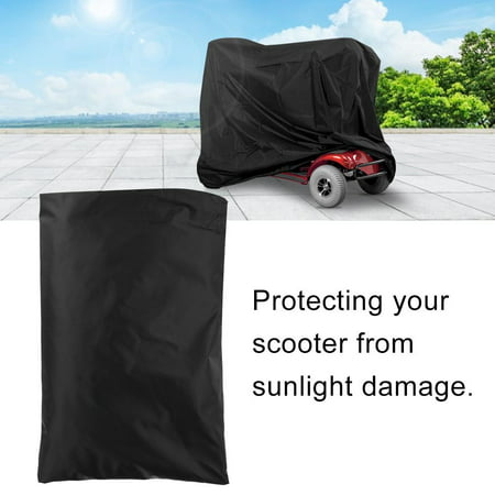 WALFRONT Elderly Mobility Scooter Cover, Waterproof Rain Protection Wheelchair Professional Storage Cover (Black) - image 6 of 9