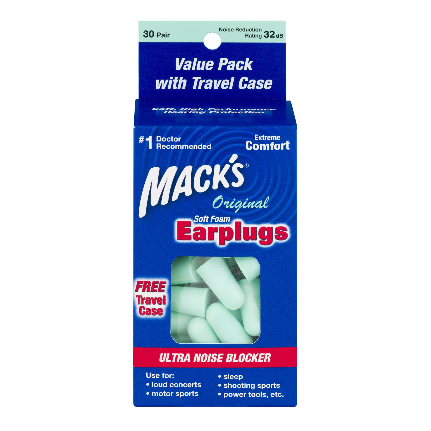 Mack's Original Soft Foam Earplugs 30 Pair