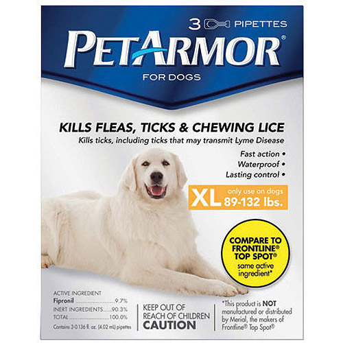PetArmor Flea & Tick Protection for Dogs 89-132 lbs, 3-month Supply