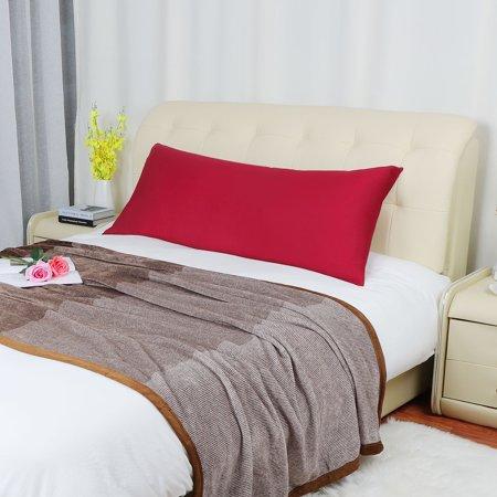 Silky-Soft Pillowcase Pillow Case Cover w Zipper 280 Thread Count 1Pcs, 20 x 60 Red (Snowflake Zippered Pillowcases)