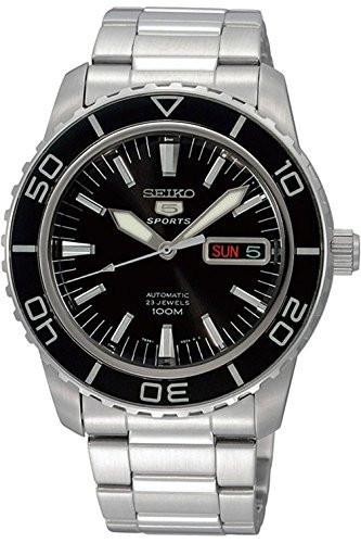 SEIKO SNZH55K1,Men's Automatic Sport,Stainless steel Case & Bracelet,Black Dial,Rotating Bezel,100m WR,SNZH55