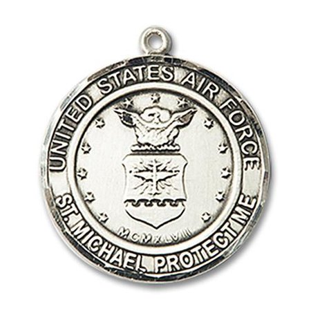 St. Michael the Archangel / Air Force Military Medal in Sterling - George Air Force Medal