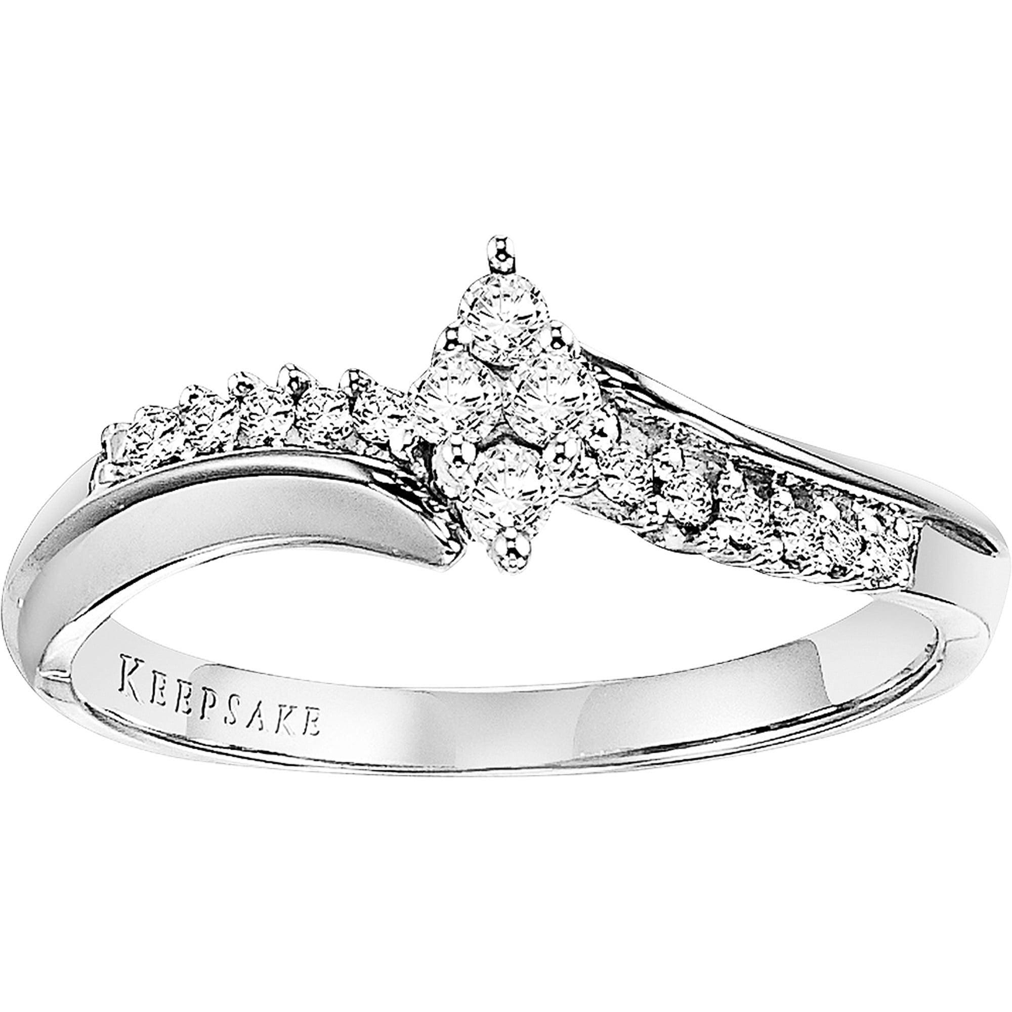 Keepsake Silhouette 1/6 CT. T.W. Diamond 10kt White Gold Ring