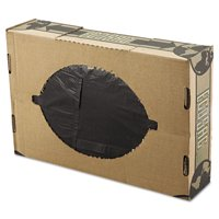 FlexSol Linear Low-Density Ecosac, 38 x 60, 55-Gallon, 1.54 Mil, Black, 100/Case
