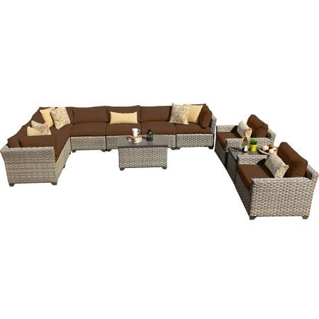 Hampton 11 Piece Outdoor Wicker Patio Furniture Set 11a ()