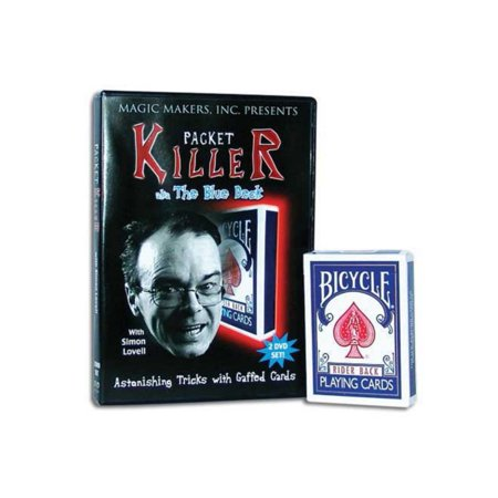 Packet Killer with Simon Lovell, Includes Special Bicycle Gaffed Deck - Card Magic - Easy Halloween Magic Tricks