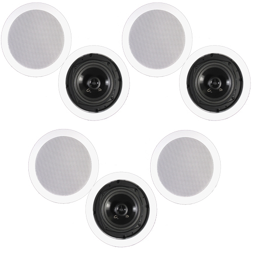 Theater Solutions CS5C In Ceiling Speakers Surround Sound Home Theater 7 Speaker Set CS5C-7S