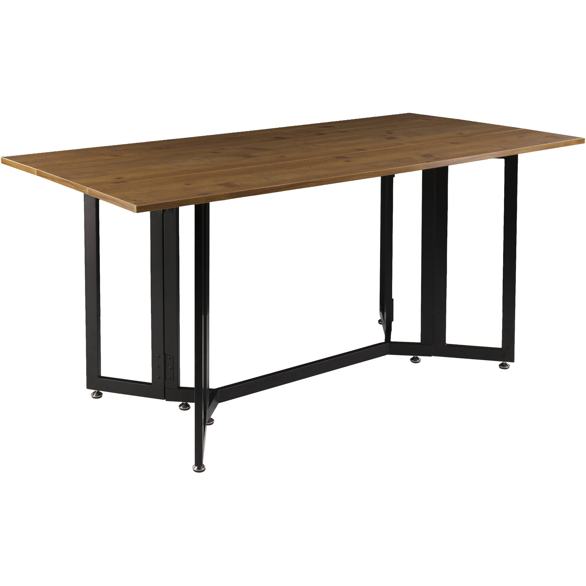 Holly & Martin Driness Drop Leaf Table, Dark Tobacco with Black