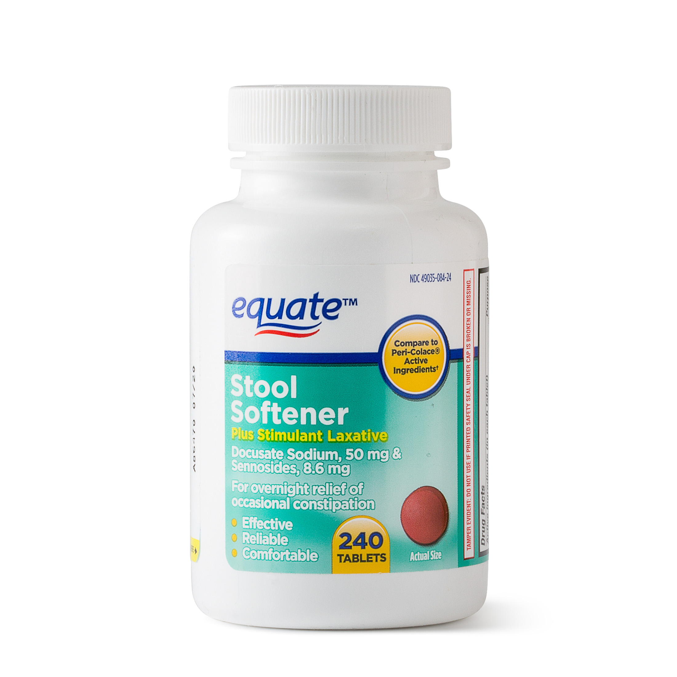 Equate Stool Softener Plus Stimulant Laxative Tablets 50