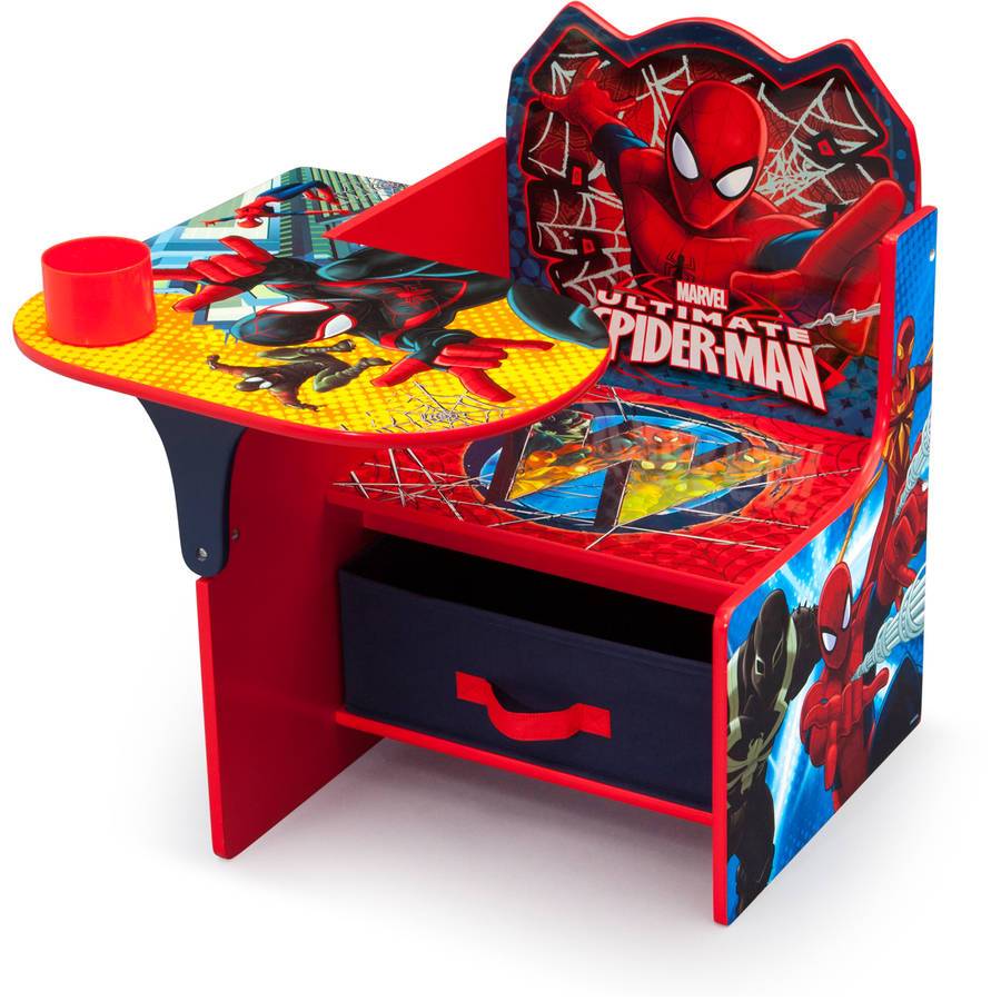 Delta Children Spider-Man Chair Desk with Storage Bin