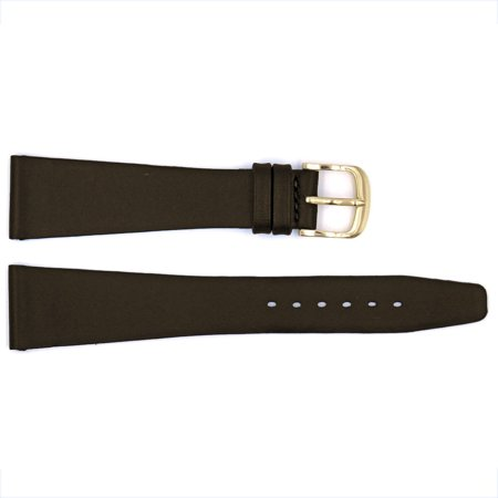 Smooth Brown Edge Classic Genuine Leather 19mm Flat Strap