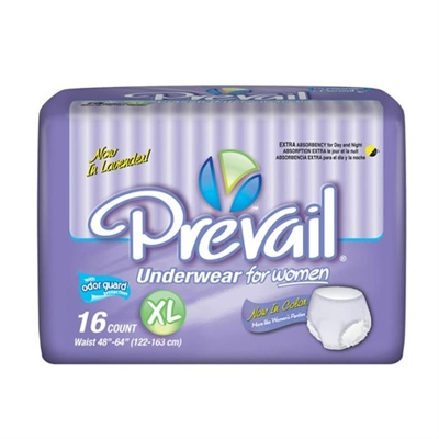 Prevail Underwear Women, EXTRA LARGE, Heavy Absorbency, PWC-514 - Case of 64