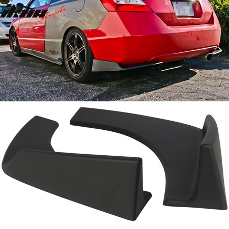 universal fit front rear bumper lip splitters winglets canards 30x4 inch 2pc pp ()