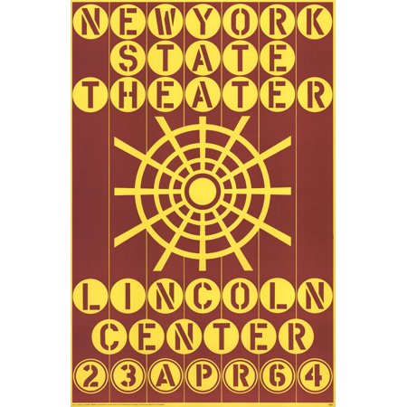 Robert Indiana-New York State Theater, Lincoln Center-1964 Serigraph