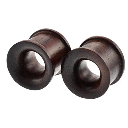 Set Of Organic Sono Wood Ear Gauges 10mm 25mm Double Flared Saddle Tunnel Plug