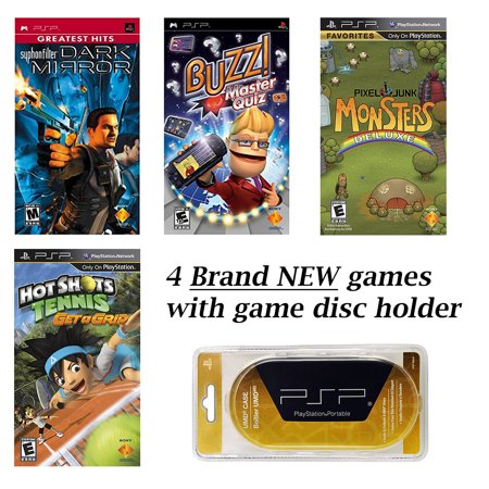 PSP MEGA 4 Game Bundle with Free UMD Case Holder that holds 8 games - Sony Free Game Systems