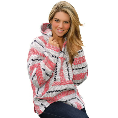 Sherbert Baja Pullover with Hood, Pouch Pocket, Inside Brushing