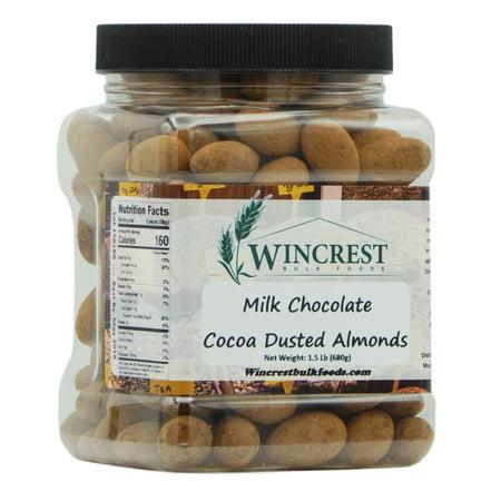 Milk Chocolate Cocoa Dusted Almonds - 1.5 Lb Tub