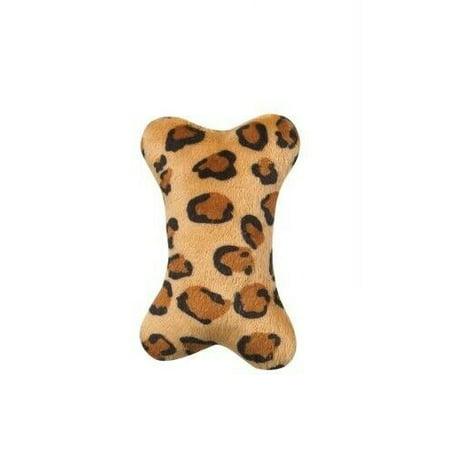 Small Dog Toys Mini Wild Style Plush Bone Safari Jungle Animal Print Squeaker 5