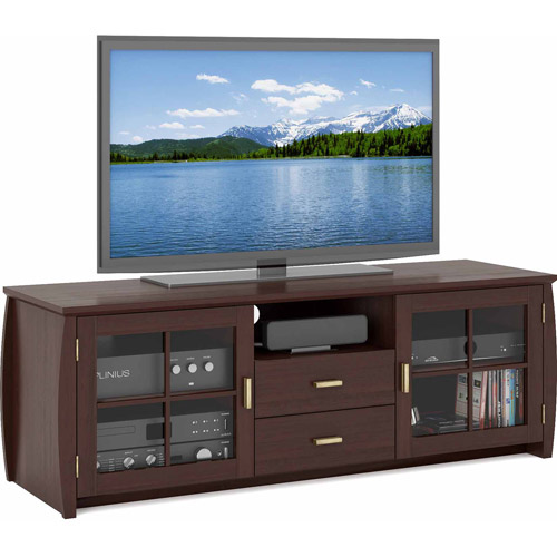 CorLiving Washington Espresso Wood Veneer TV Stand for TVs up to 68""