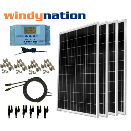 WindyNation 400 Watt Off-Grid Solar Panel Kit with P30L ()