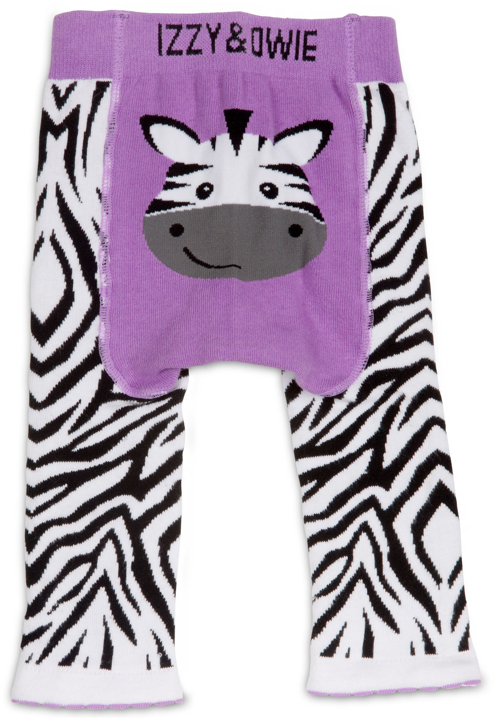 Izzy & Owie - Purple Zebra Baby Leggings