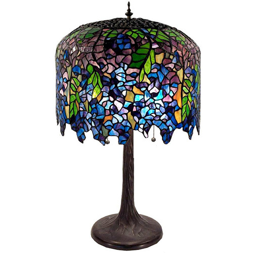 Warehouse of Tiffany Wisteria 29'' H Table Lamp with Bowl Shade