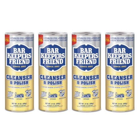 (4 Pack) BAR KEEPERS FRIEND Cleanser Powder, 21oz 4 Ounce Multi Cleaner