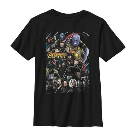 Marvel Boys' Avengers: Infinity War Character View T-Shirt ()
