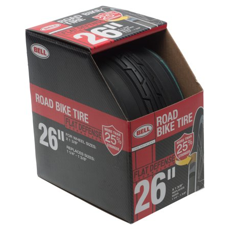 Bell Flat Defense Road Bike Tire, 26