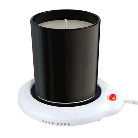 - Eutuxia Candle Warmer for Home & Office. Great for Warming Up Cups, Coffee Mugs, Wax, and Beverages on Desks, Tables & Countertops. Electric Heated Plate Warms Quickly. Enjoy Hot Drinks on Cold Days.