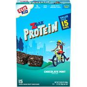 CLIF Kid Zbar Protein Granola Bars, Gluten Free, Chocolate Mint, 15 Ct, 1.27 oz