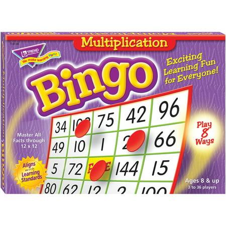 Trend, TEPT6135, Multiplication Bingo Learning Game, 1 Each - Halloween Bingo Math