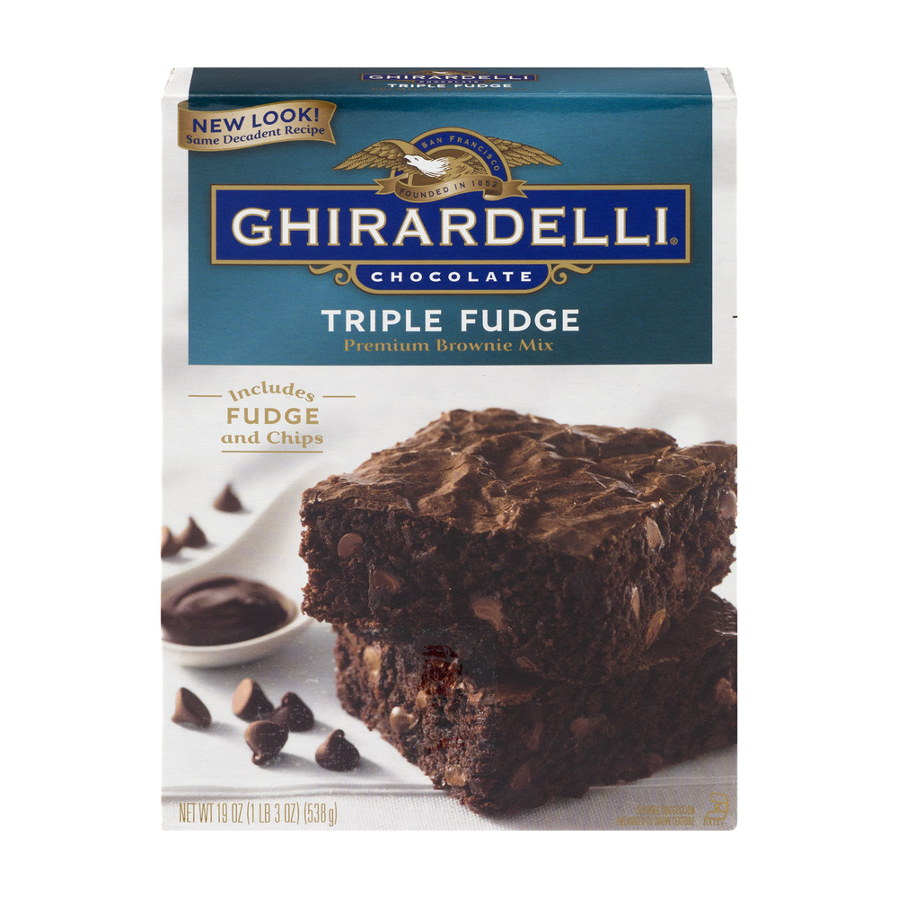 Ghirardelli Premium Brownie Mix Triple Fudge, 19.0 OZ