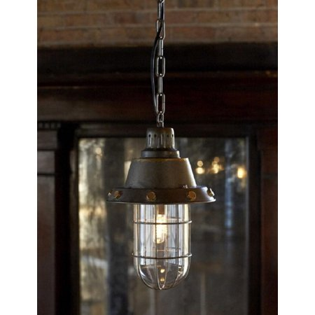 """Hanging Rustic Looking Flared Caged Foyer Pendant Light Fixture 44"""""""