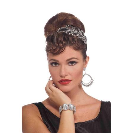 Forum Novelties Women's Vintage Hollywood Rhinestone Bracelet, Multi, One Size - image 1 de 1