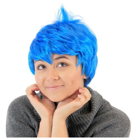 Disney Joy Inside Out Blue Costume Wig (Joy Wig)
