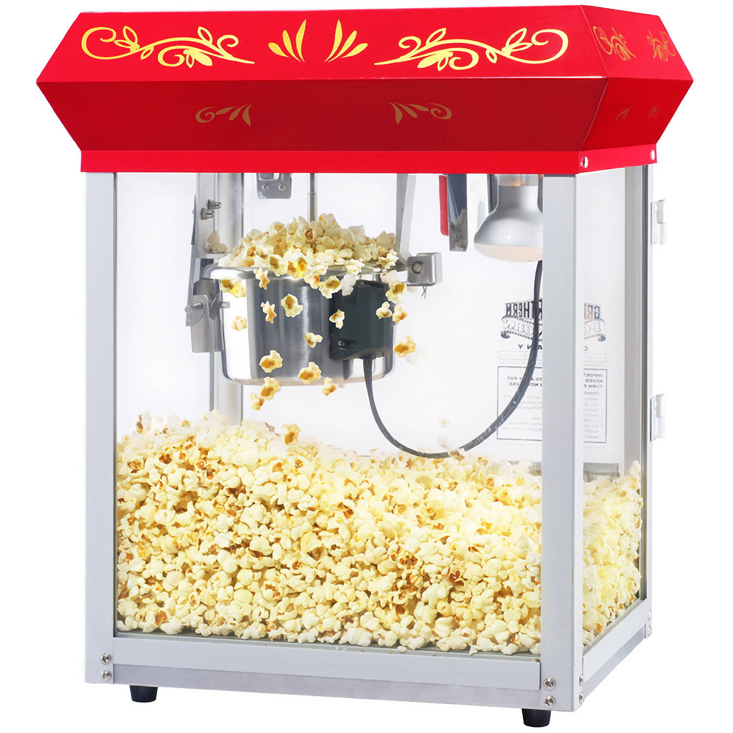 Great Northern Popcorn Red All Star GNP-450 Classic Popcorn Machine Top, 4 Ounce