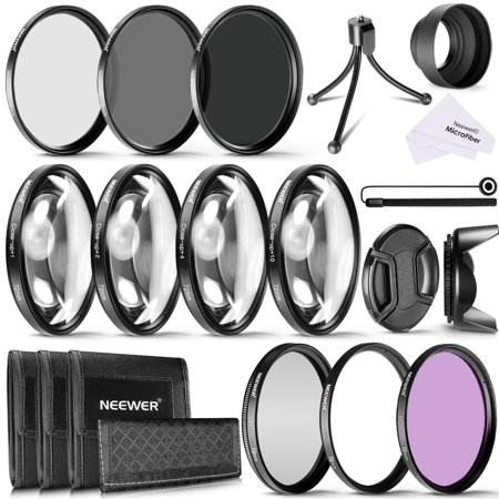 Neewer 72MM Camera Lens Filter Kit, Includes 72MM UV,CPL,FLD Filter, ND Filters(ND2,ND4,ND8), Close up Macro Filters (+1,+2,+4,+10), Mini Table Tripod and Others for All Lenses with 72MM Thread