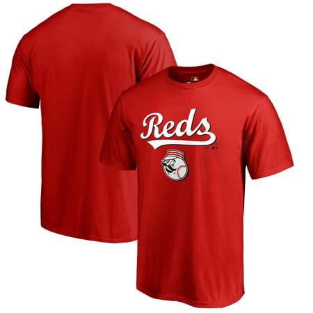 Cincinnati Reds Fanatics Branded Big & Tall Team Lockup T-Shirt - Red