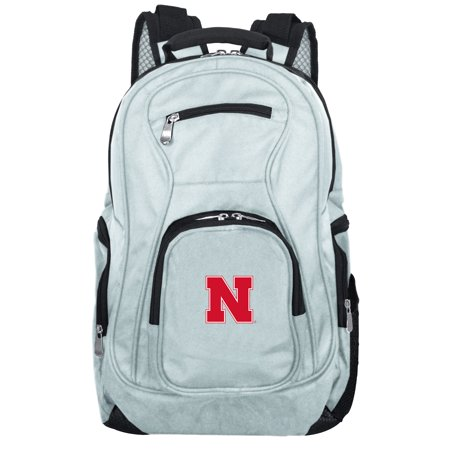 NCAA Nebraska Cornhuskers Gray Premium Laptop - Nebraska Cornhuskers Laptop Backpack