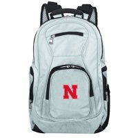 NCAA Nebraska Cornhuskers Gray Premium Laptop Backpack