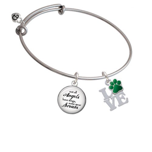 Love with Paw Angels Wear Scrubs Bangle Bracelet