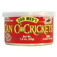 Zoo Med Laboratories Can O Mini Size Crickets for Most Small Lizards, Turtles, Fish, Birds & Small Animals 1.2 Oz