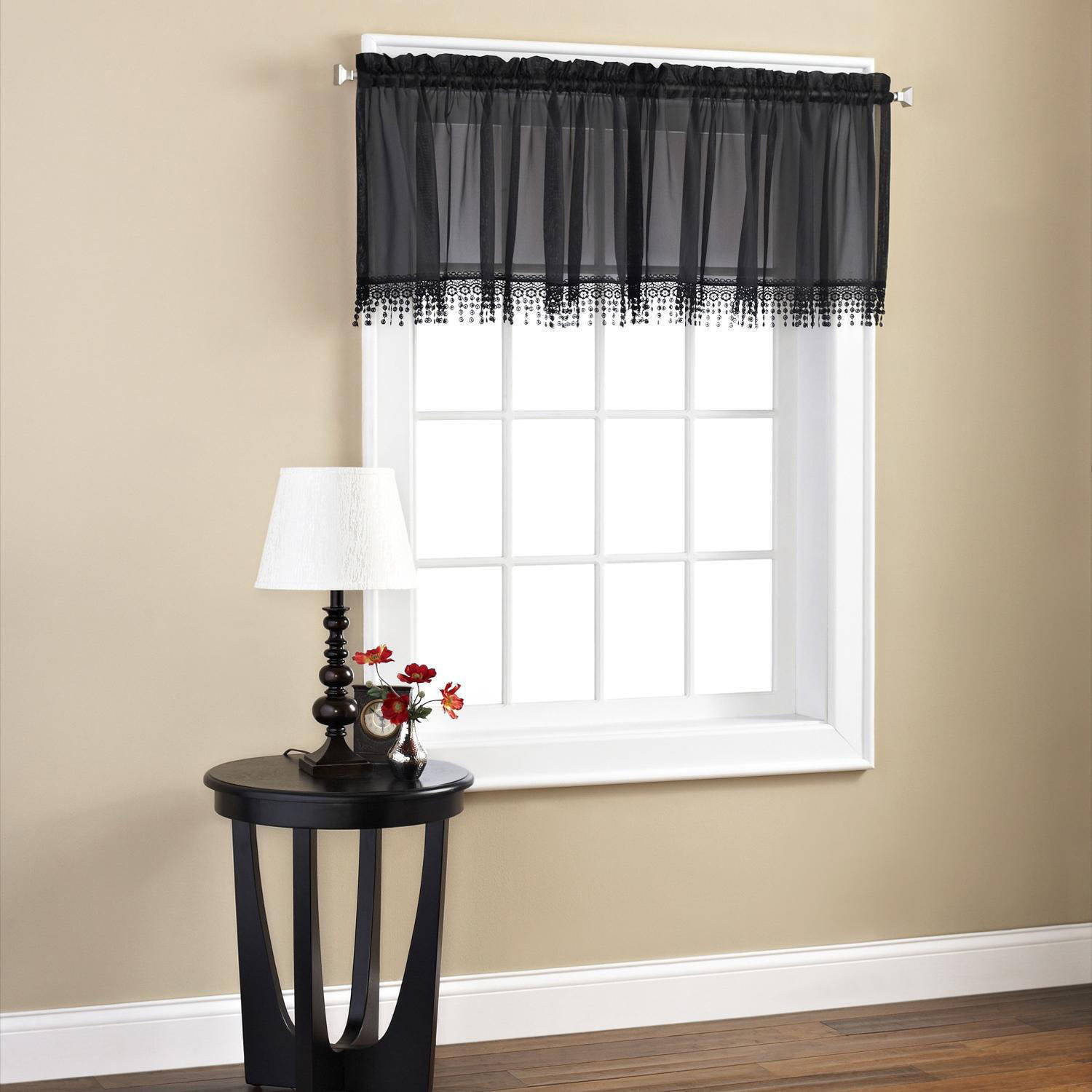 Mainstays Macrame Tailored Valance