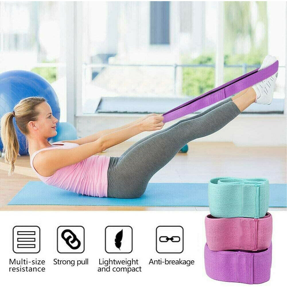 Hip Circle Fabric Resistance Bands Heavy Duty Bands Glute Non Slip Fitness