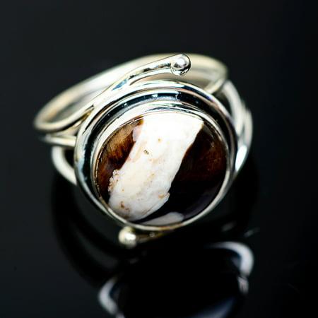 Peanut Wood Jasper Ring Size 6 (925 Sterling Silver)  - Handmade Boho Vintage Jewelry RING953725 (Ana Silver Co Jasper Ring)