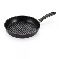Happycall 5 Layer Diamond Nonstick Grill Frying Pan, 11inch, PFOA-Free, Grill Pan, Cookware, Dark Brown