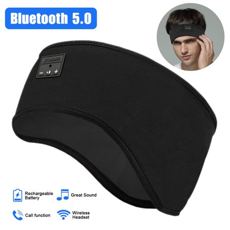 Bluetooth Sleep Headphones, EEEKit Wireless Sports Headband Headphones with Ultra-Thin HD Stereo Speakers Perfect for Workout, Jogging, Yoga, Insomnia, Side Sleepers, Air Travel, Meditation