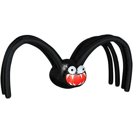 Gemmy 5'H x 12'W Airblown Halloween Giant Inflatable Black Spider with Big-Mouth](Halloween Airblown Inflatables)